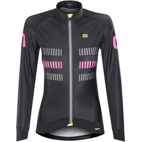 Alé Cycling PRR 2.0 Strada LS Jersey Women Black-Fluo Pink